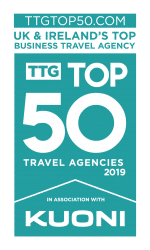 TTG's Top Business Travel Agency 2019 - 4 years running!