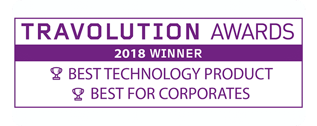 Best Technology Product & Best for Corporates - Travolution Awards 2018 Winner