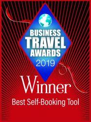 WINNER - Best Self-Booking Tool 2019 - Business Travel Awards 2019