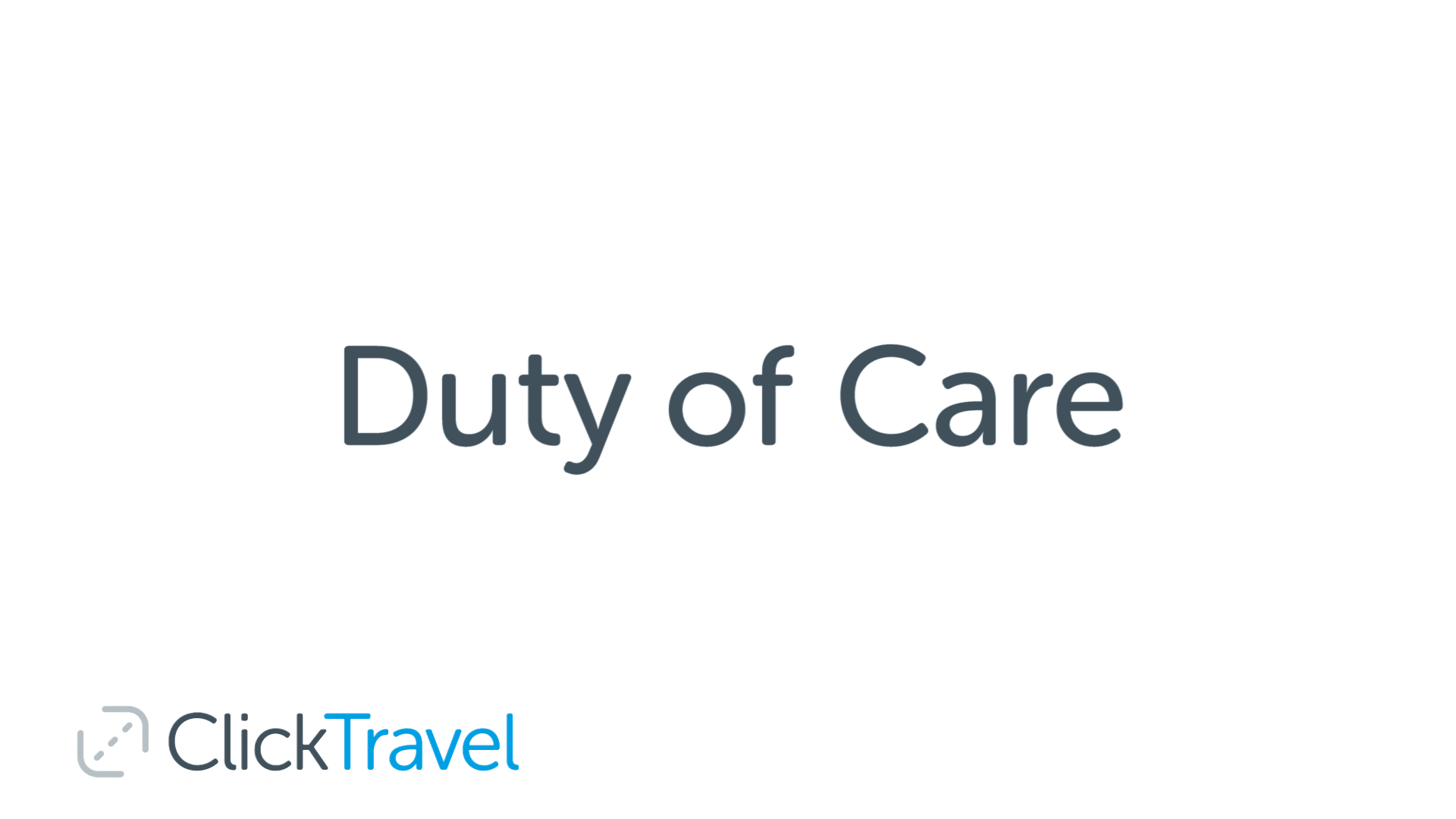 duty of care explained